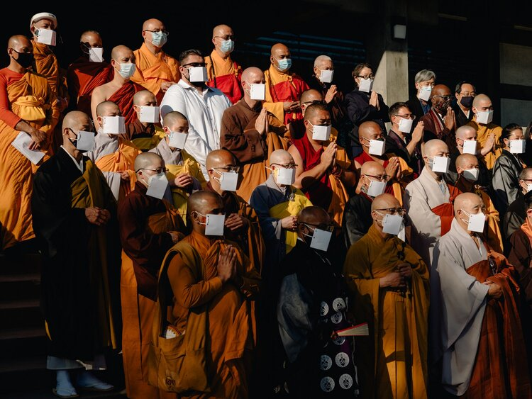 Monastics and Dharma teachers of Asian descent from all Buddhist traditions in the US gathered in Los Angeles for this momentous ceremony.