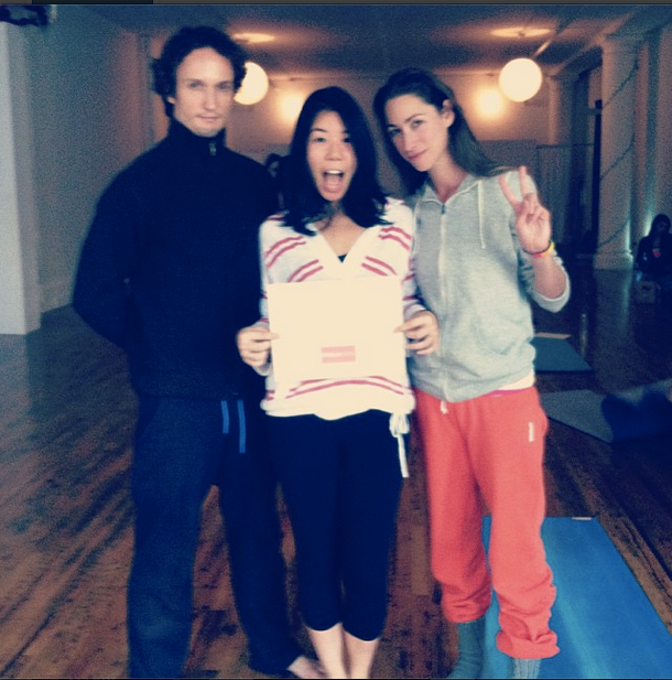 super serious, extra-formal, strala yogagraduation day with these creative folks!
