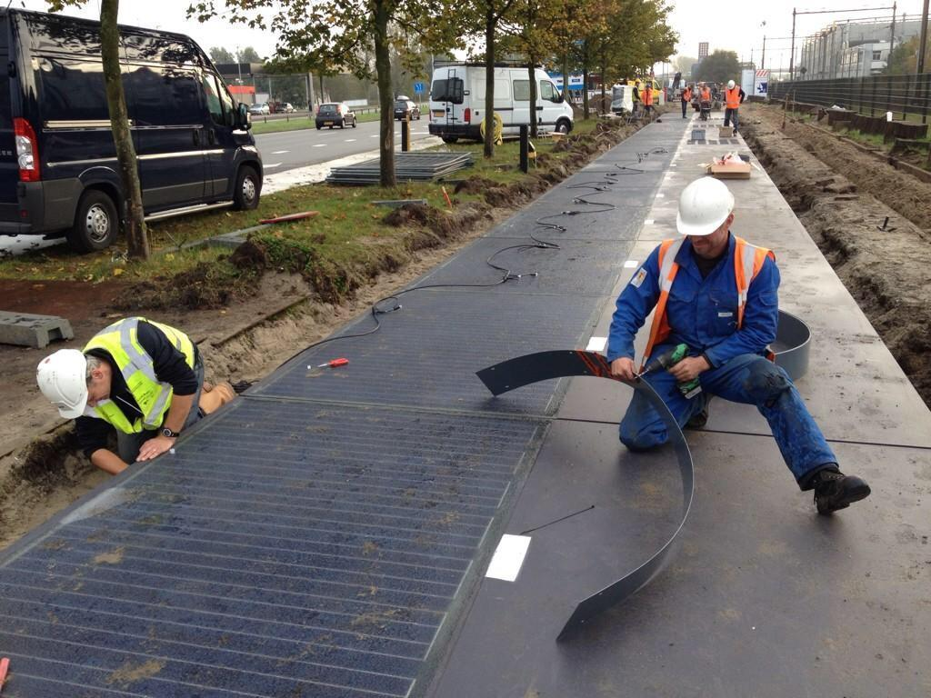 SOLAR-POWERED BIKE LANE (article)
