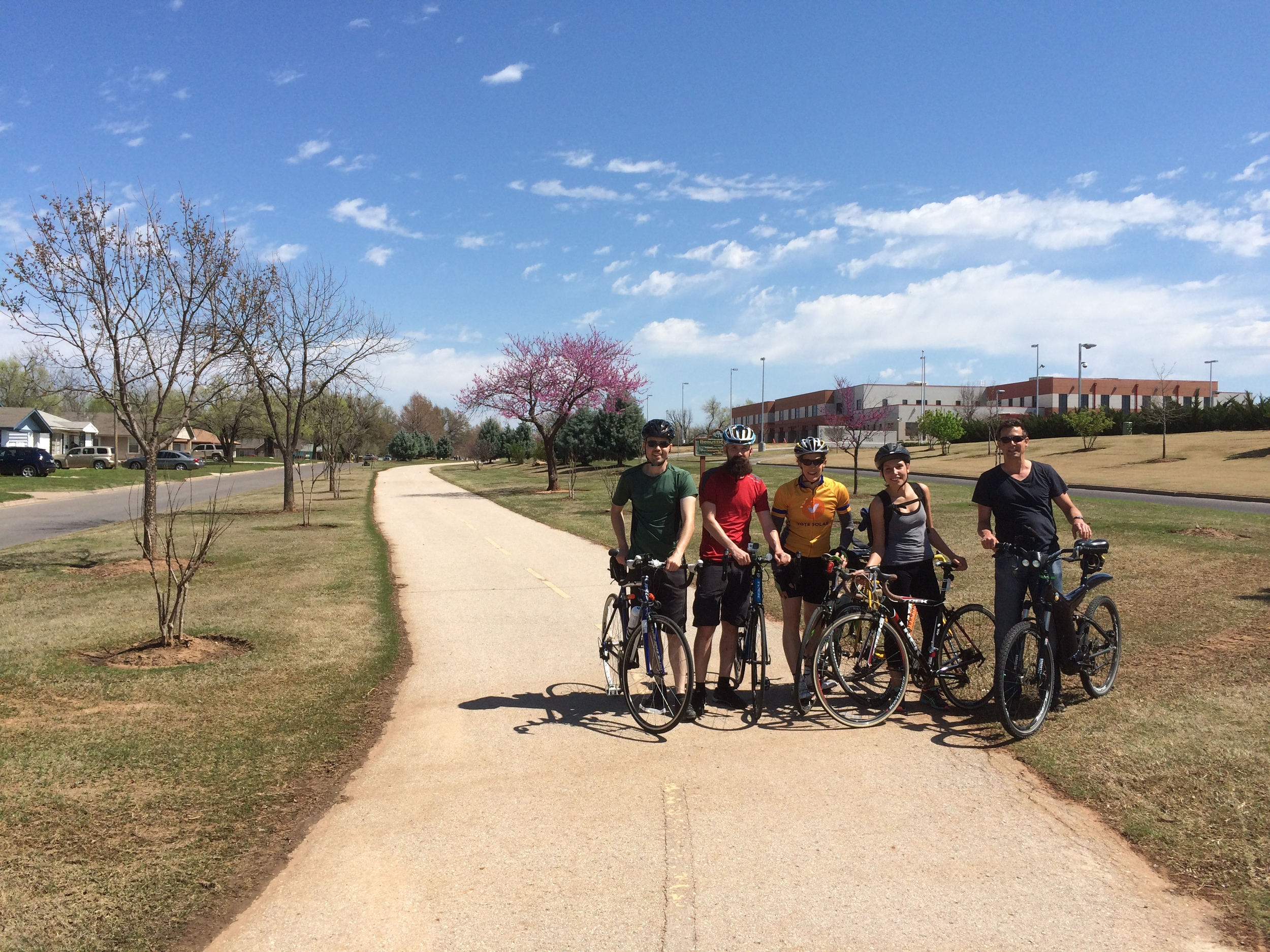 RIDING BICYCLES AROUND OKC
