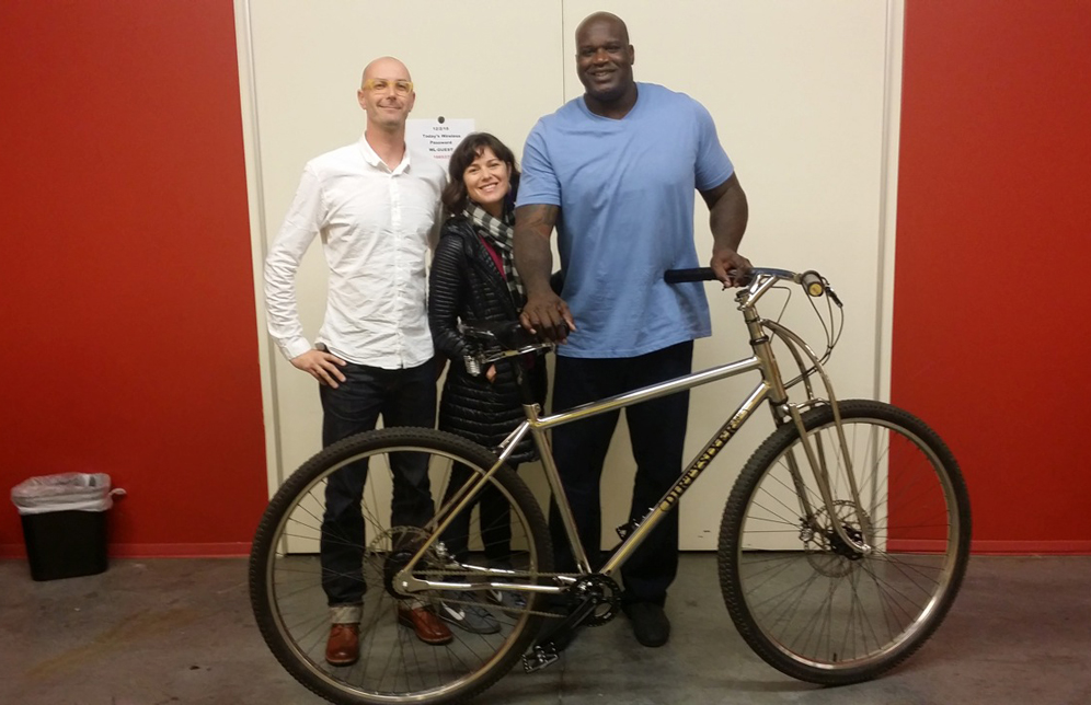 SHAQ GETS A NEW BIKE (video)