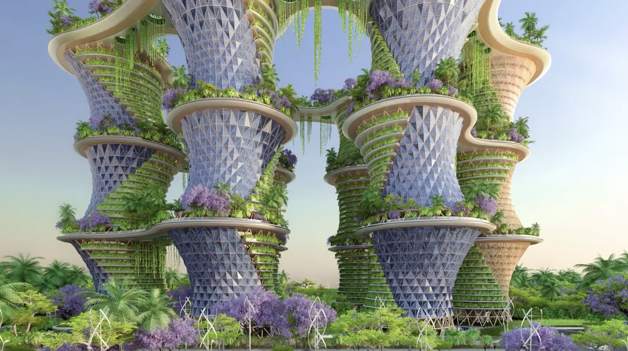 INCREDIBLE VERTICAL ECO-VILLAGE (video)