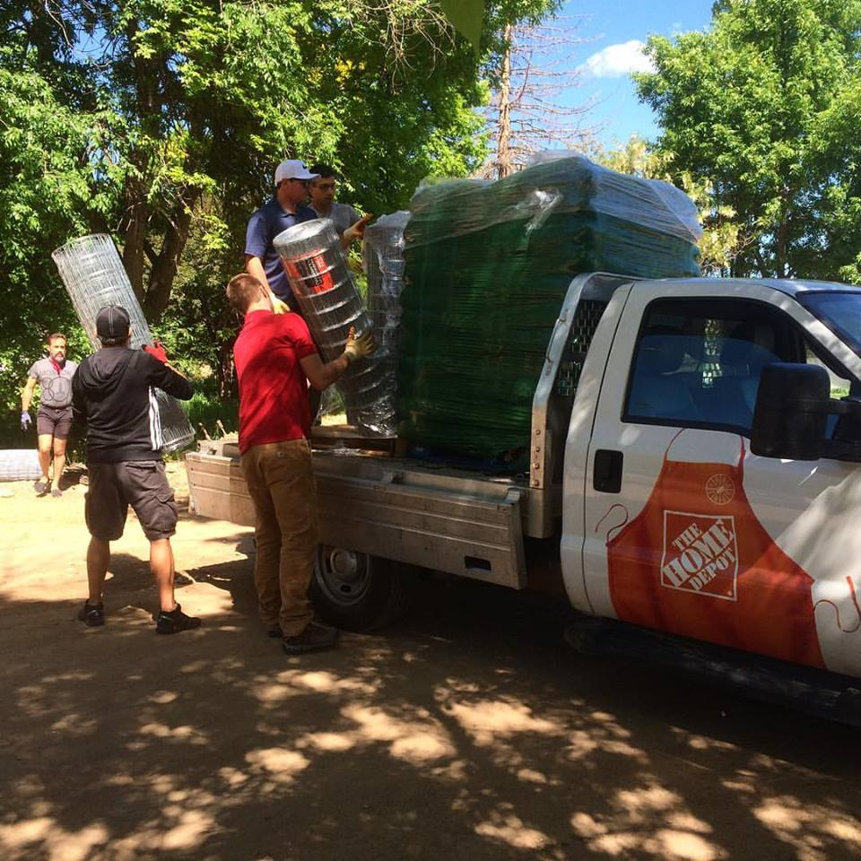 SUPPLIES BEING DELIVERED BY THE HOME DEPOT