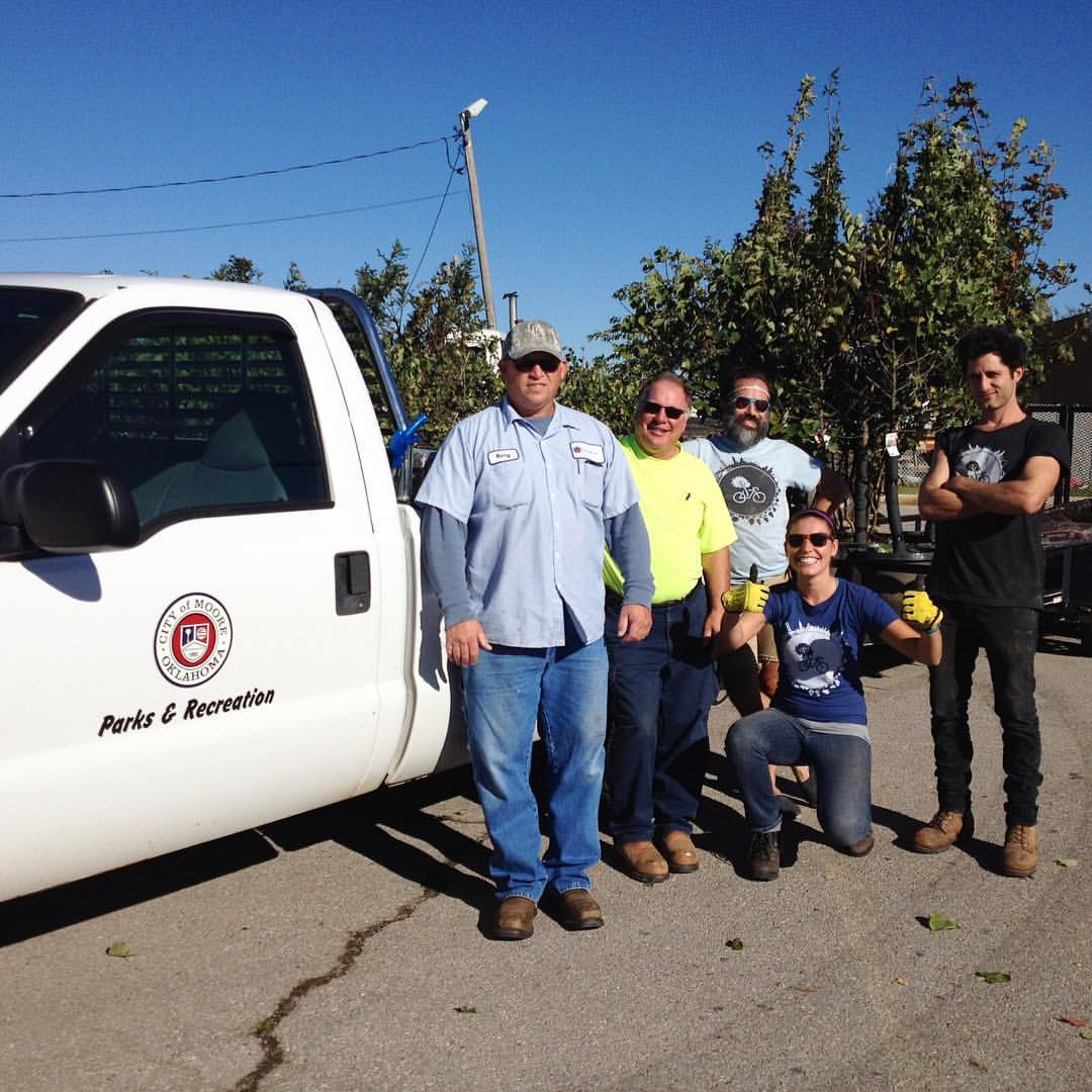 DELIVERING TREES TO HOMES IN SOUTH OKC AND MOORE