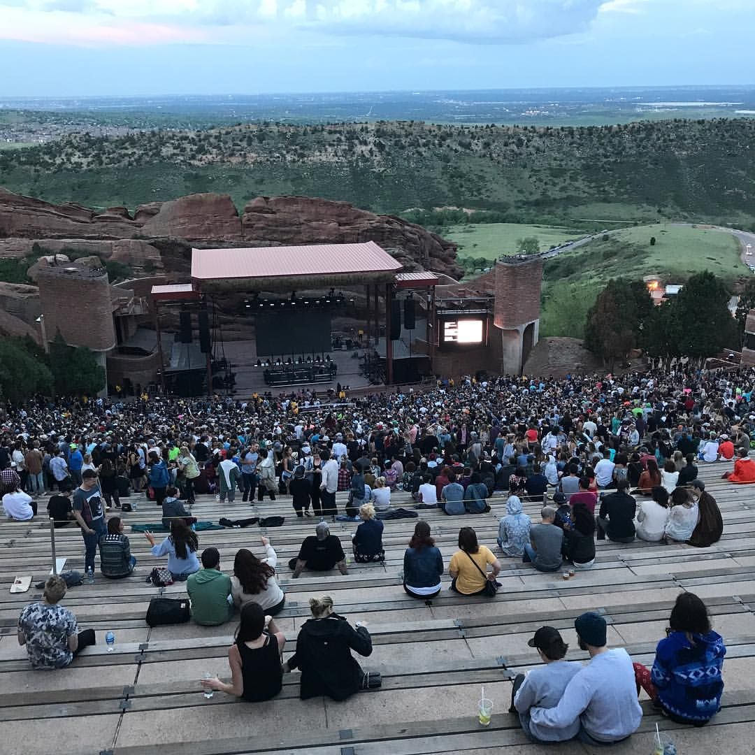 WAITING FOR THE SHOW TO START AT RED ROCKS