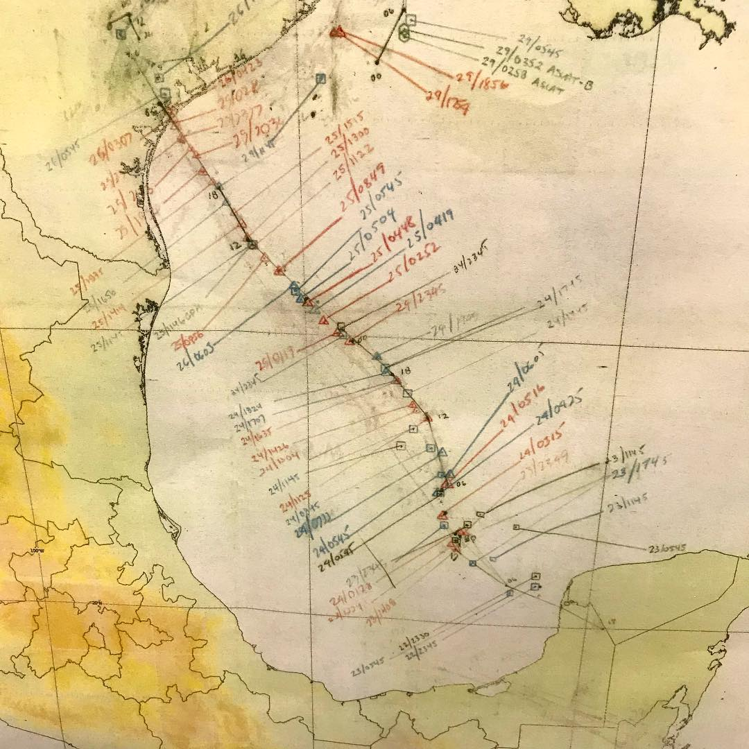 THIS MAP OF HURRICANE HARVEY'S PATH WAS HAND DRAWN IN REAL TIME BY FEMA