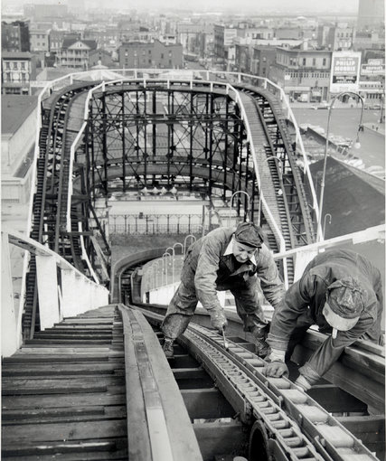 Figure 8. Construction crew at work in 1927