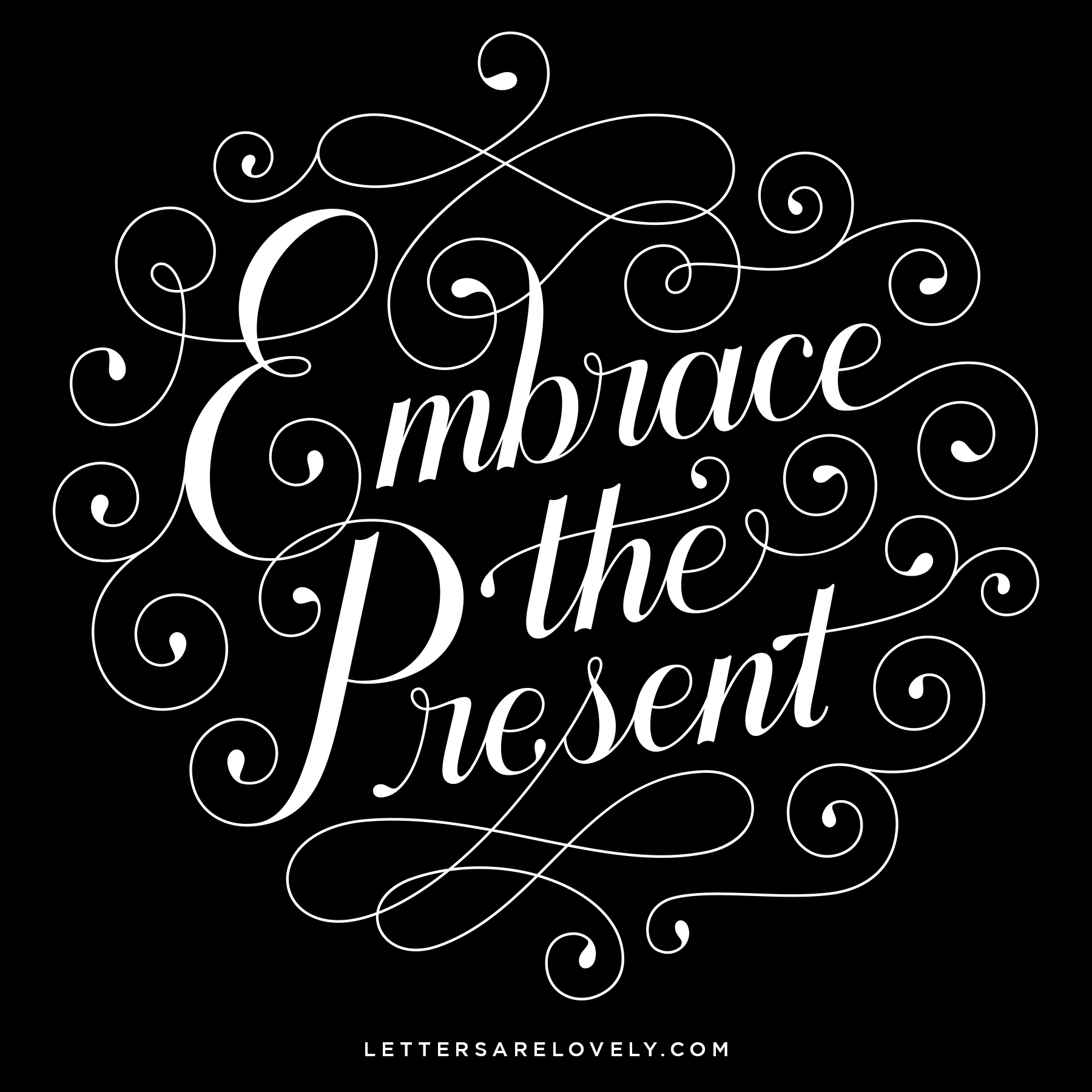 Letters Are Lovely | Embrace The Present 2