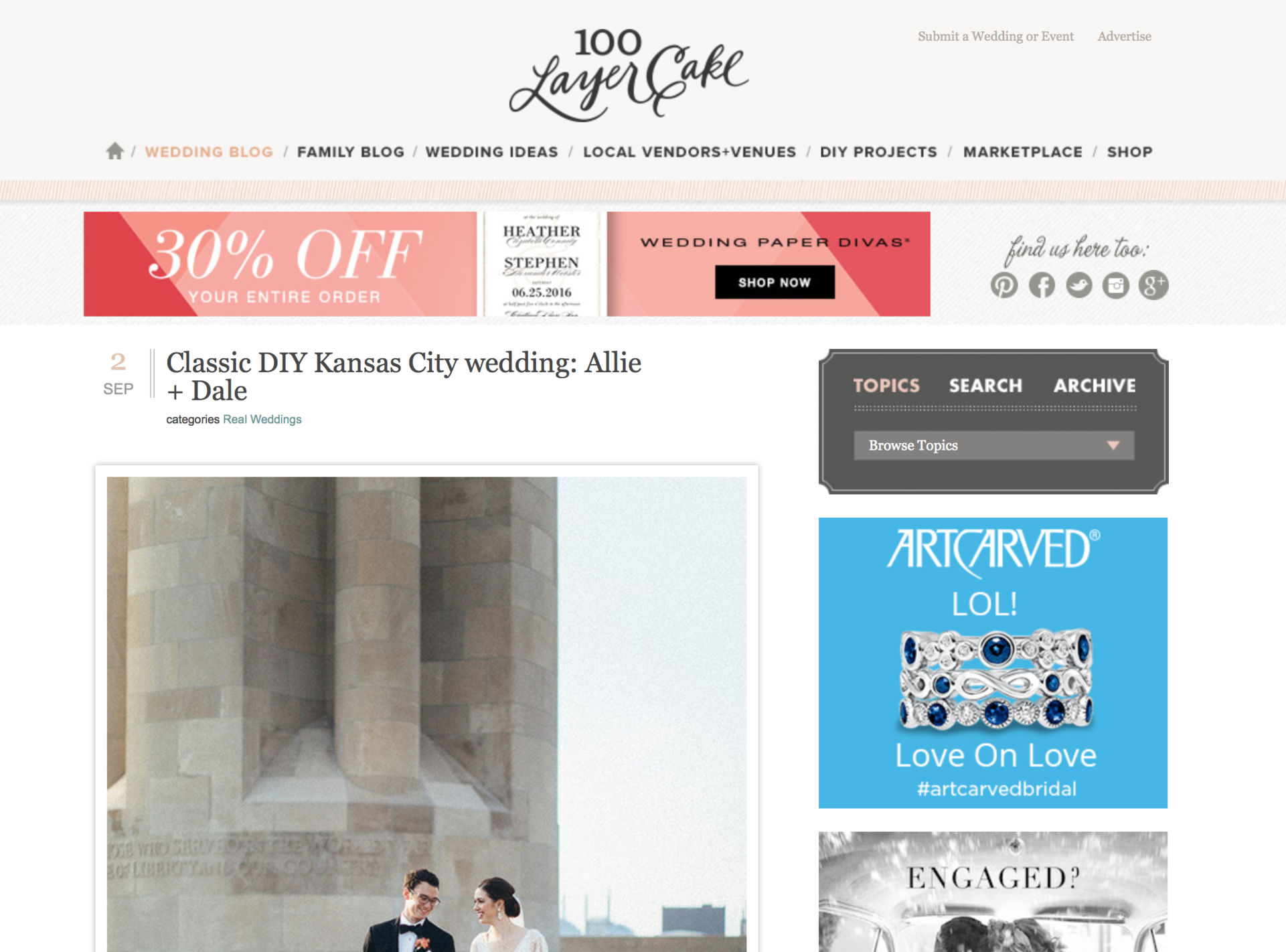 100 Layer Cake Feature | Letters Are Lovely
