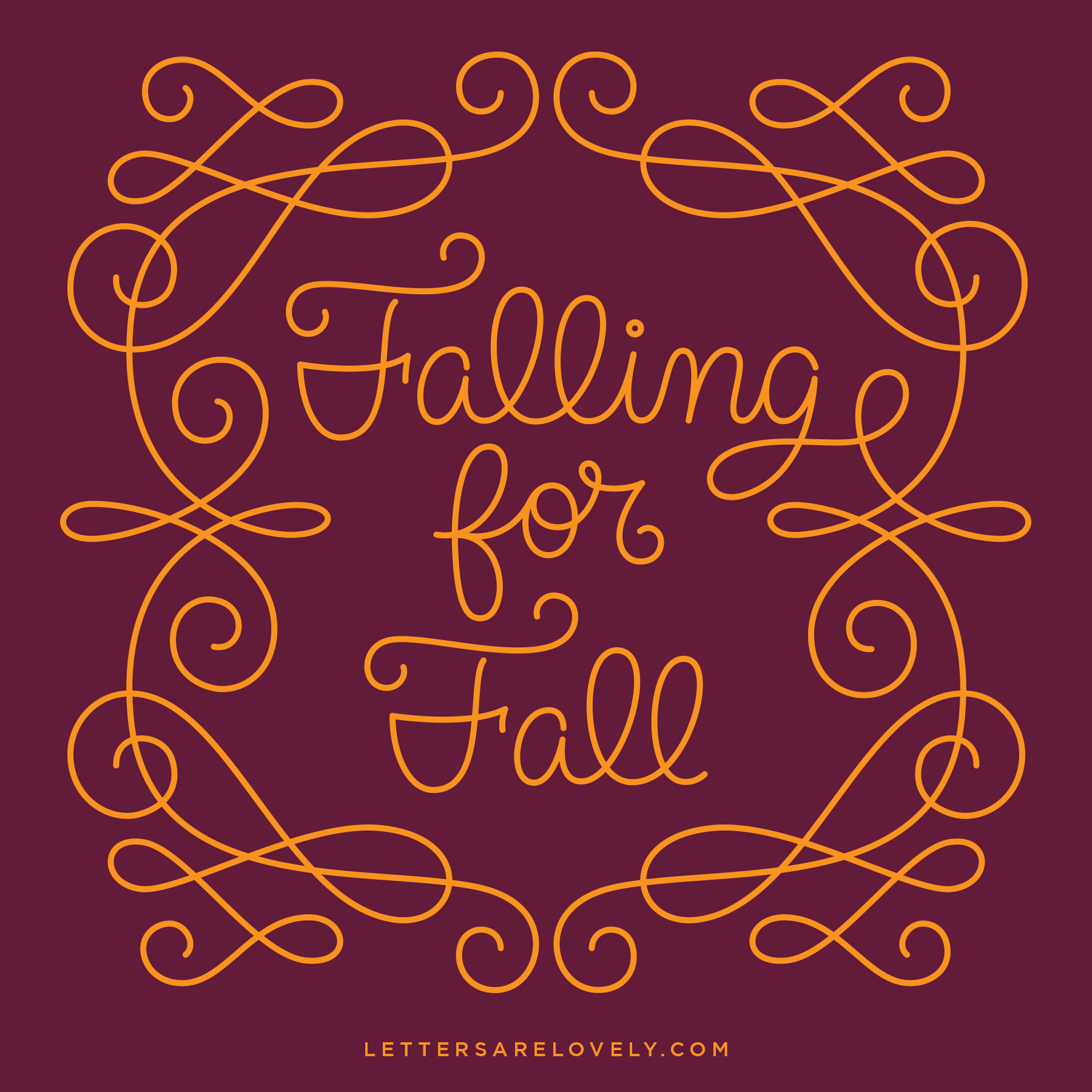 Letters Are Lovely | 9 Falling for Fall
