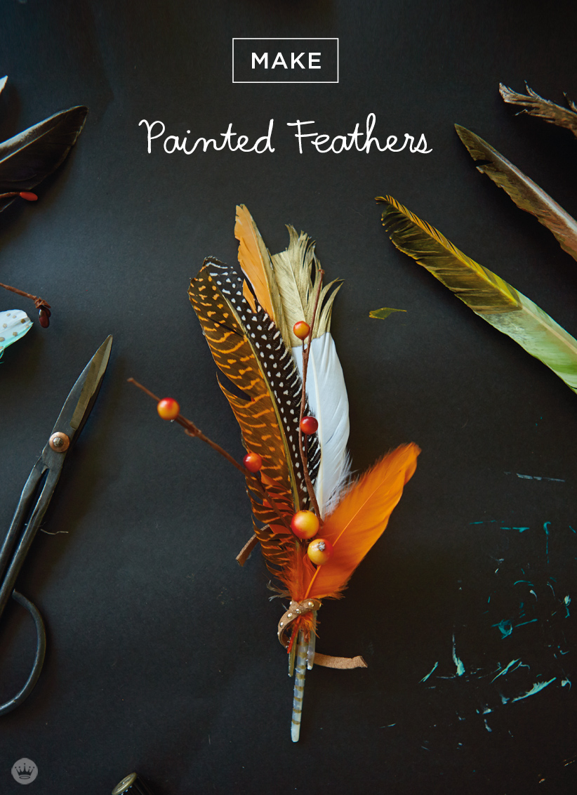 Letters Are Lovely | Painted Feathers for Think.Make.Share.