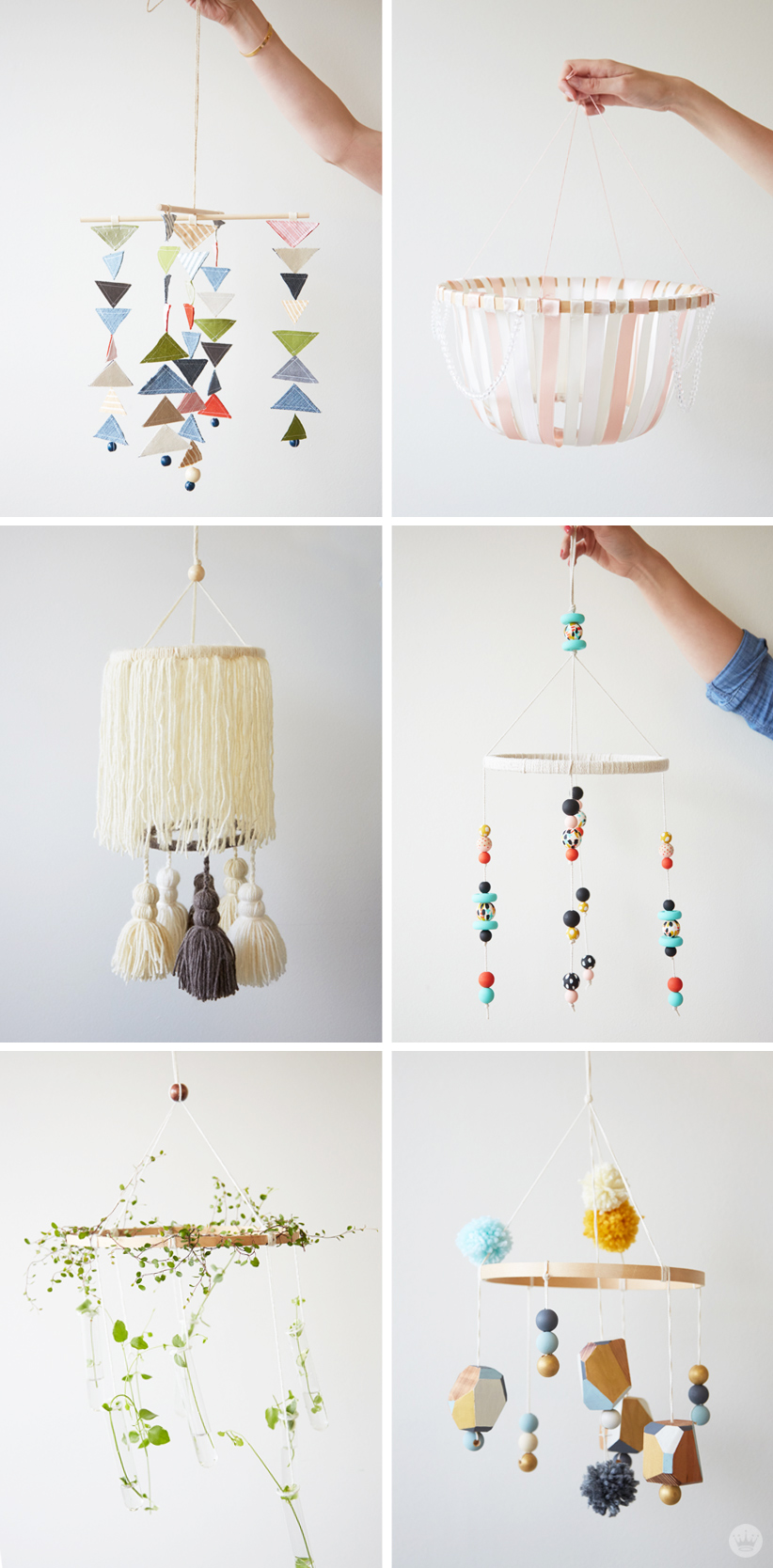 Letters Are Lovely | Embroidery Hoop Baby Mobile for Think.Make.Share.