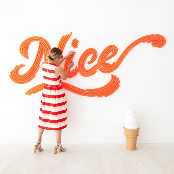 Letters Are Lovely | August Around The Web: Cursive Word Balloon Backdrop by Oh Happy Day