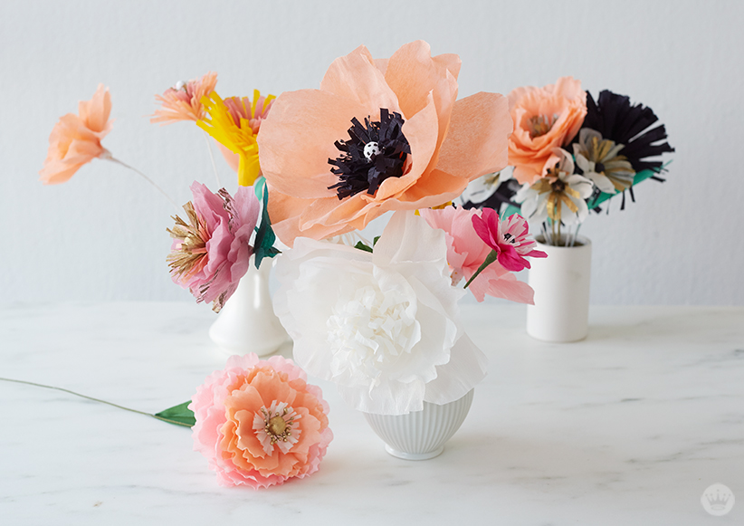 Letters Are Lovely | DIY Crepe Paper Flowers for Think.Make.Share.