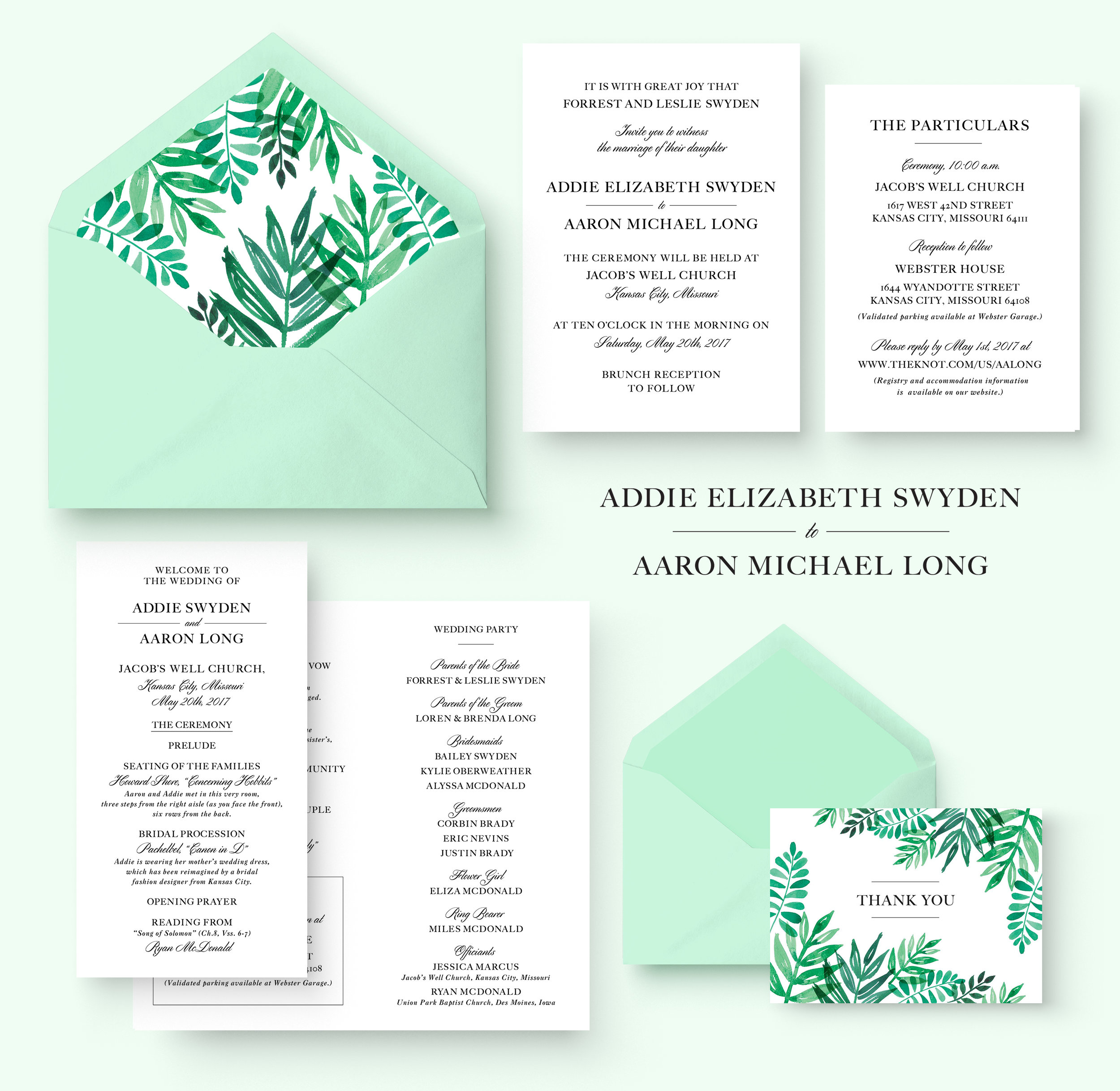 Letters Are Lovely | Addie and Arron's Wedding Invitations