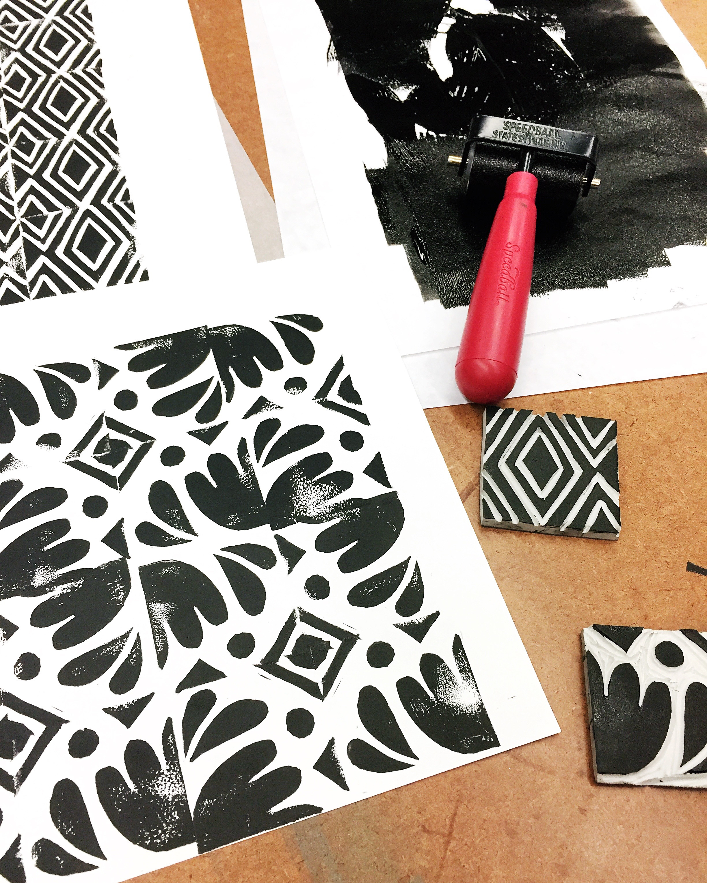 Letters Are Lovely | Block Printing for #My5Days