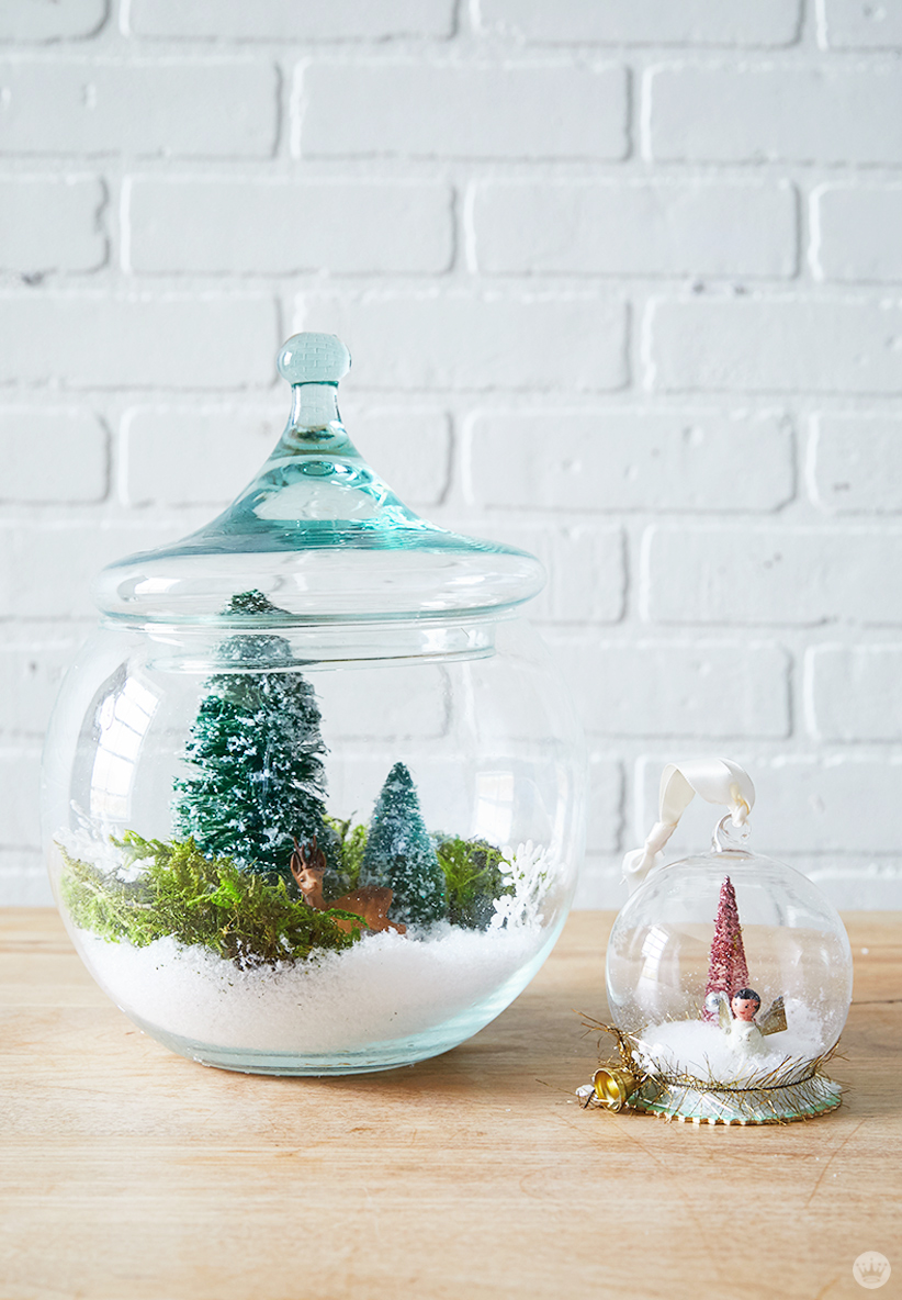 Letters Are Lovely | DIY Snow Globes for Think.Make.Share.