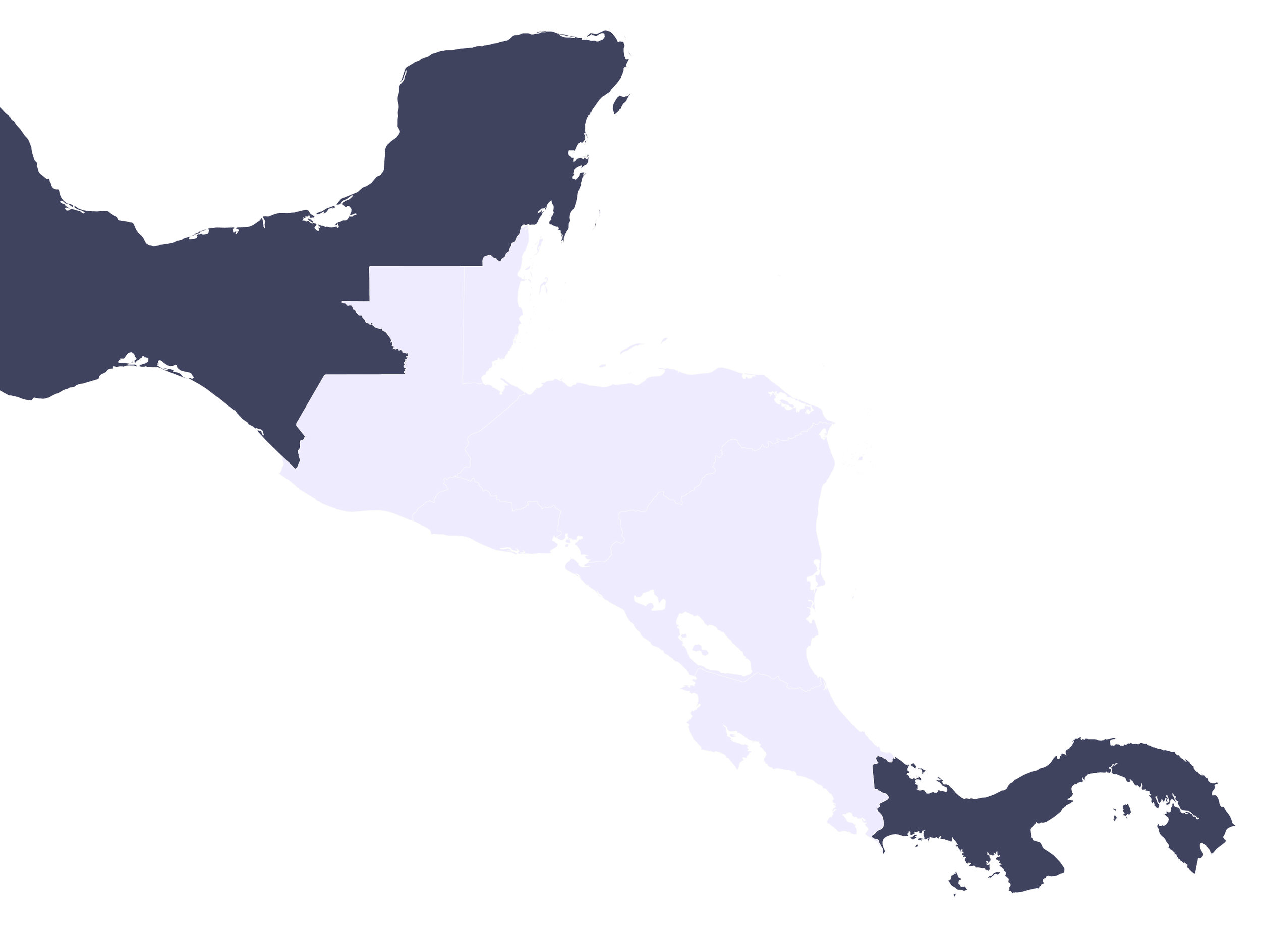 Letters Are Lovely | Travel Map:  Mexico and Central America