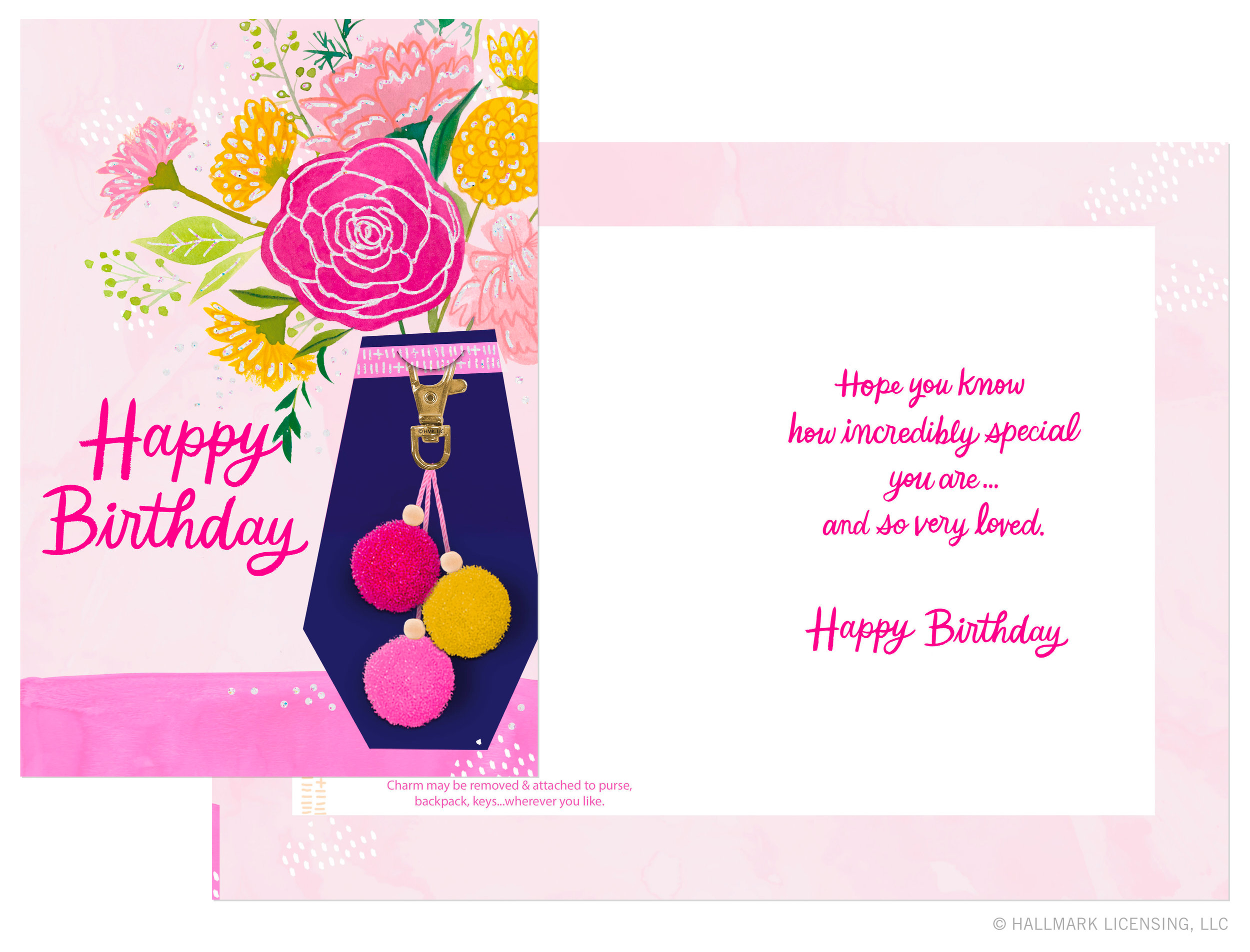Letters Are Lovely | Keychain Birthday Tray Collection for Hallmark