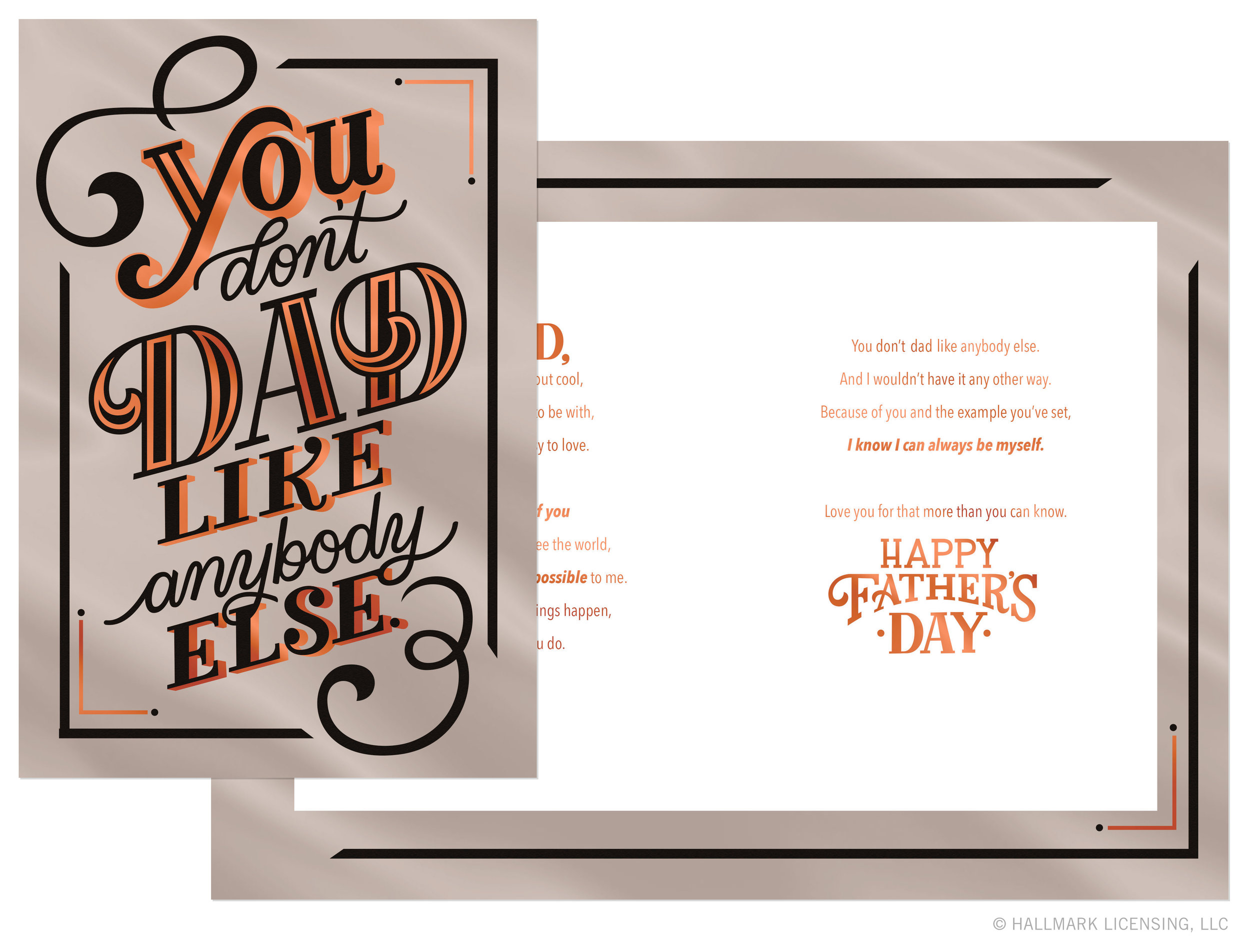 Letters Are Lovely | Hallmark Mahogany Father's Day Lettering