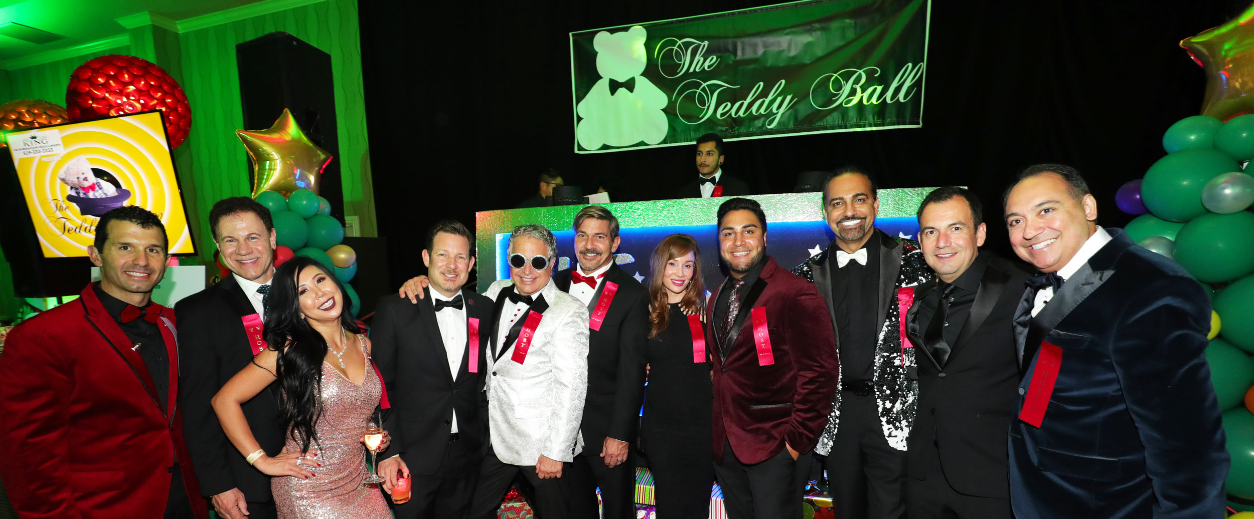 2016 Teddy ball hosts (Nino Venturella, brent wilsey, dylan marer, maurice maio, martin nace hall, kimberly ceballos, johnny castillo, king aminpour, rich ahumada, and prem advani)