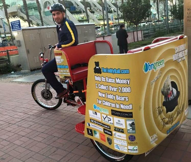 VIP Outdoor Media Pedicab The Teddy Ball 2016 2.jpg