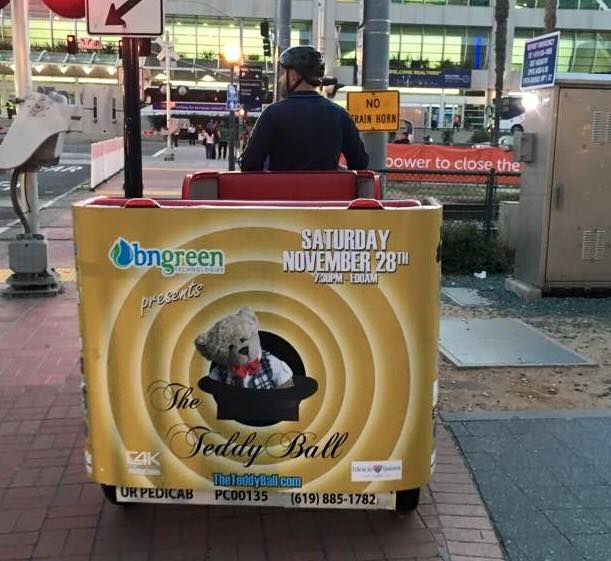 VIP Outdoor Media Pedicab The Teddy Ball 2016 4.jpg