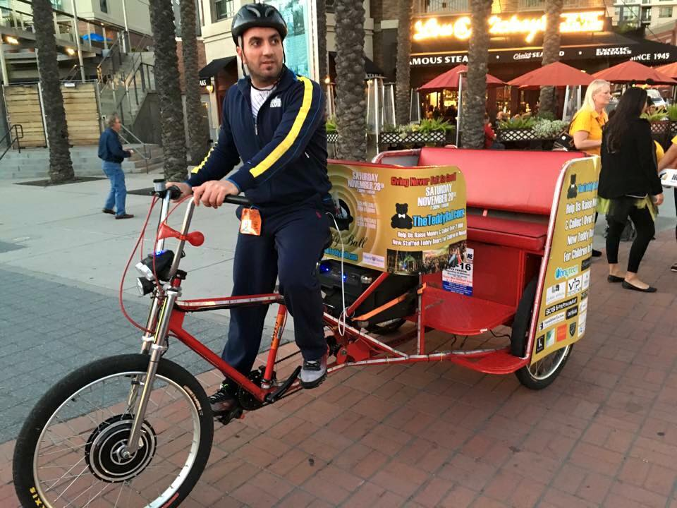 VIP Outdoor Media Pedicab The Teddy Ball 2016.jpg