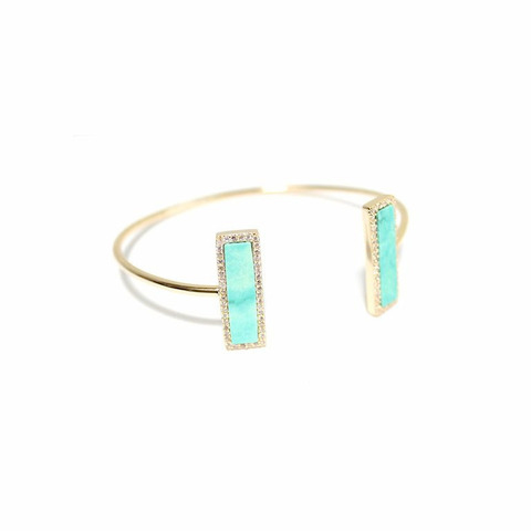 Pave Bar Turquoise