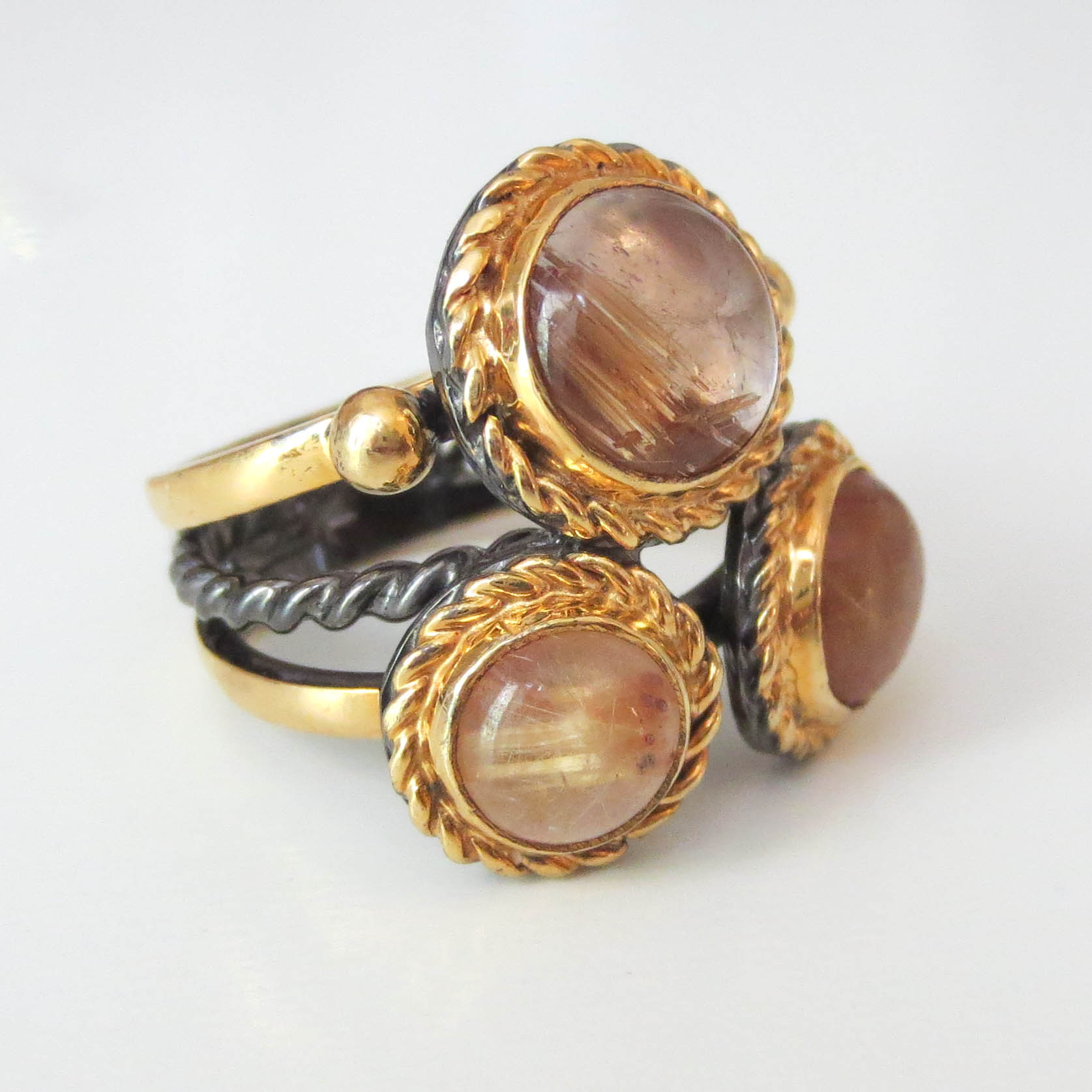 Smokey Quarts Cluster Ring available online