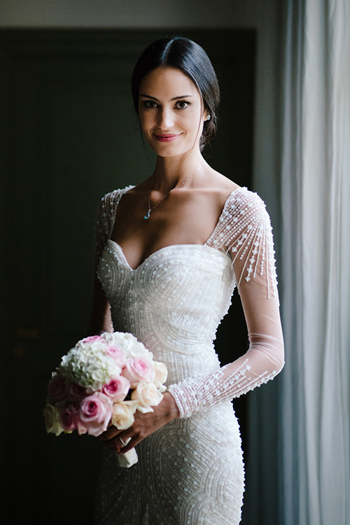 gown by Pronovias photo by Nicholas Chauveau