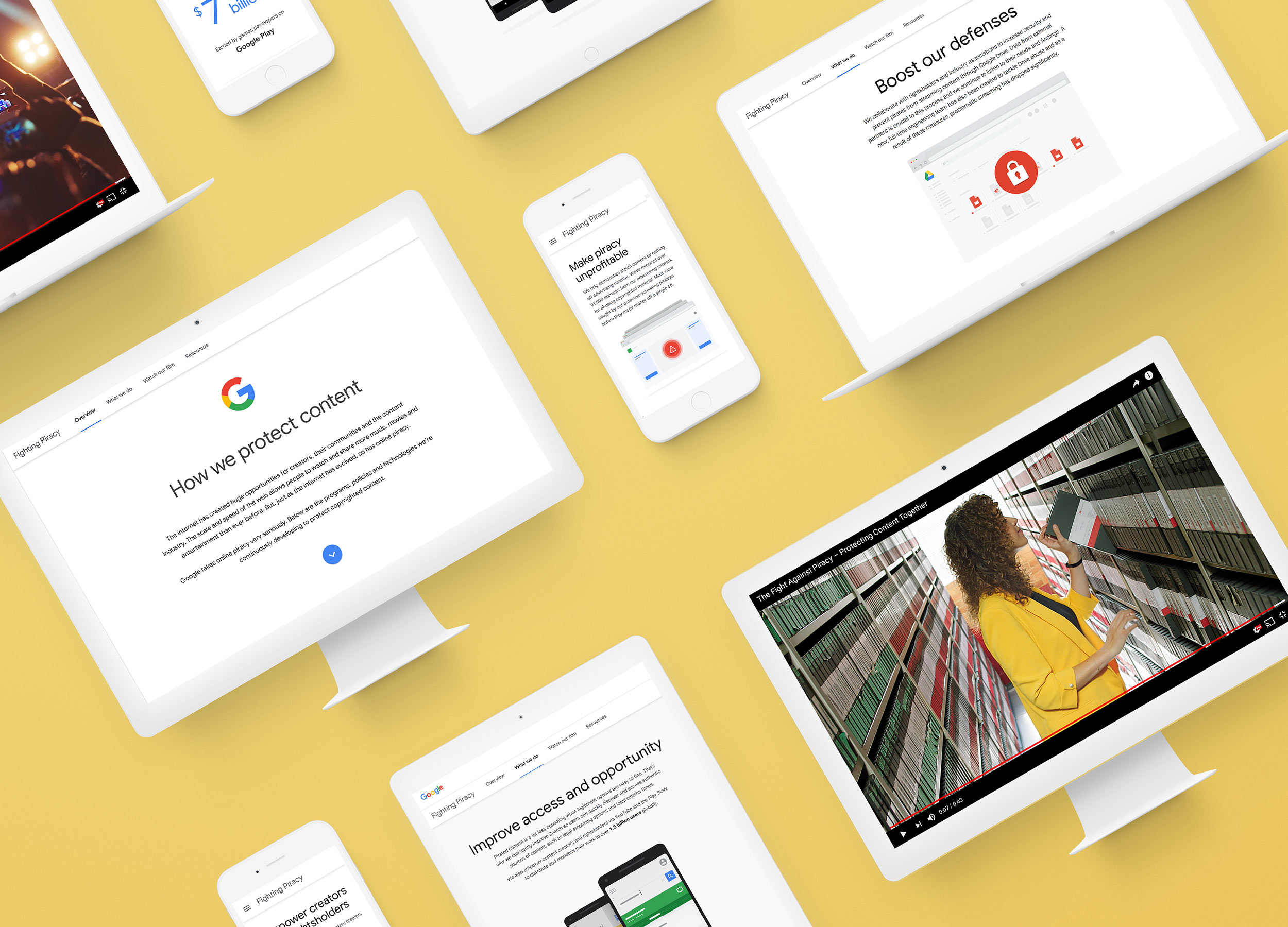 Google Piracy    Responsive web design & build, UX/UI, print, film, social