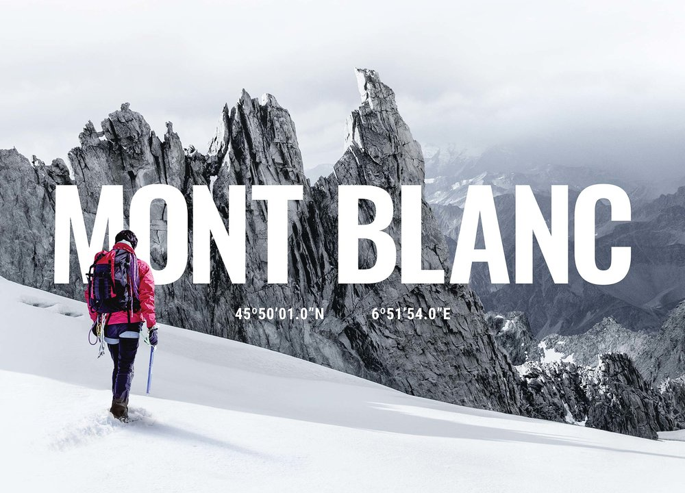 Mont Blanc Cardboard   Print (art direction, cardboard design, stickers, posters)