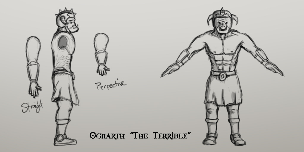 Ognarth Orthographic Drawings