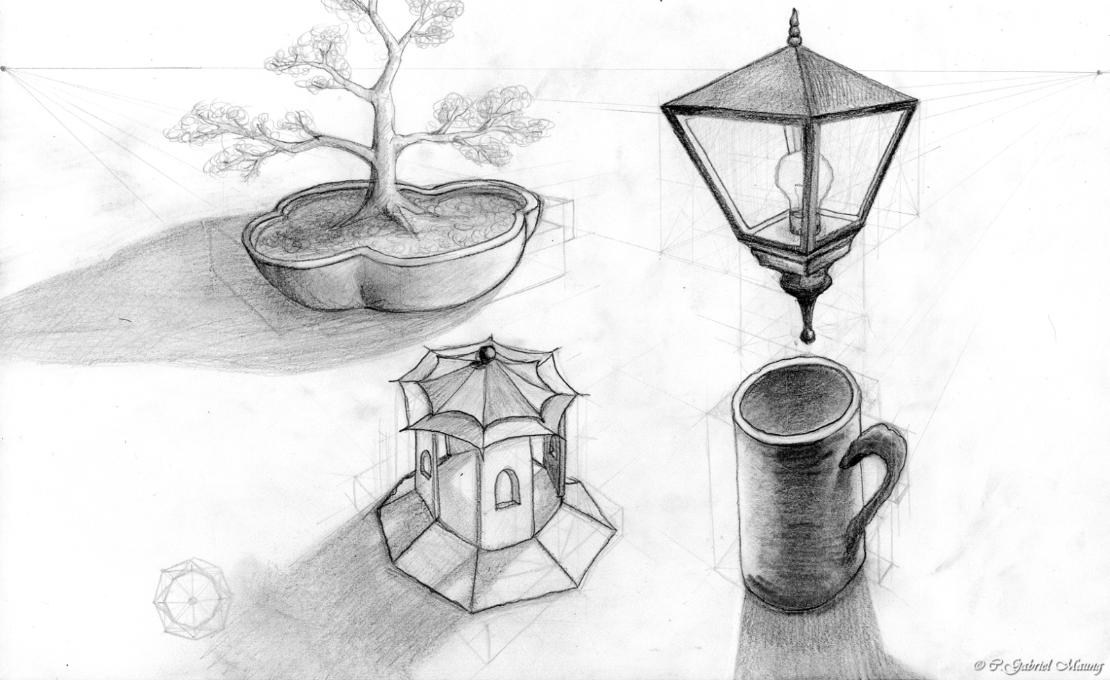 4 Objects Shaded