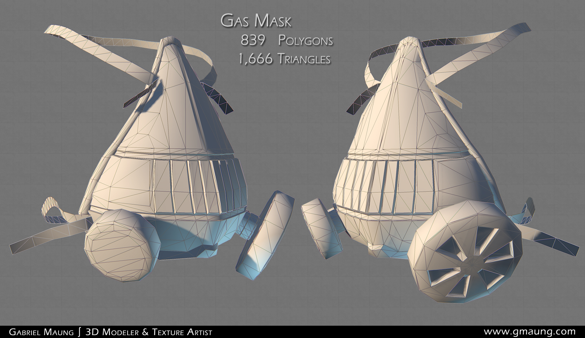 Gas Mask Wireframe