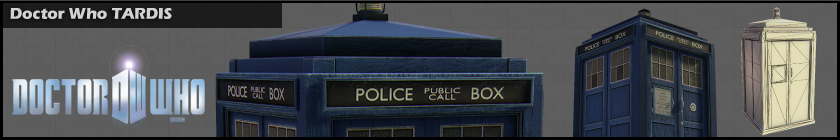Doctor Who TARDIS model