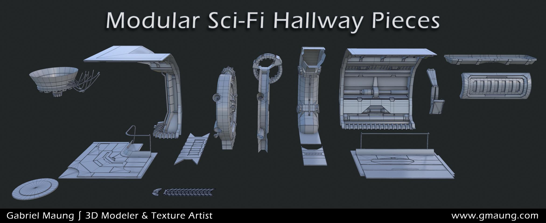 Sci-Fi-Hallway-Environment-UE4-Modular-Pieces