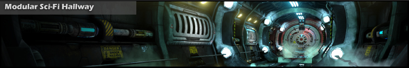 Modular Sci-Fi Hallway