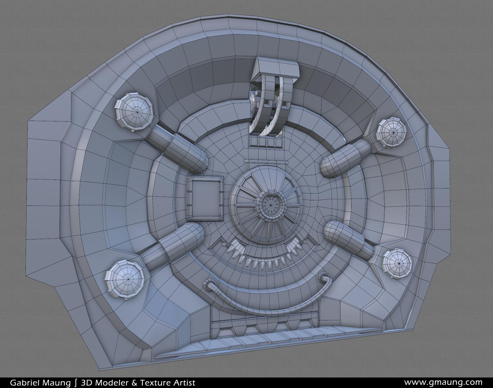 Sci-Fi-Hallway-Environment-UE4-Doorway-Front-Wires