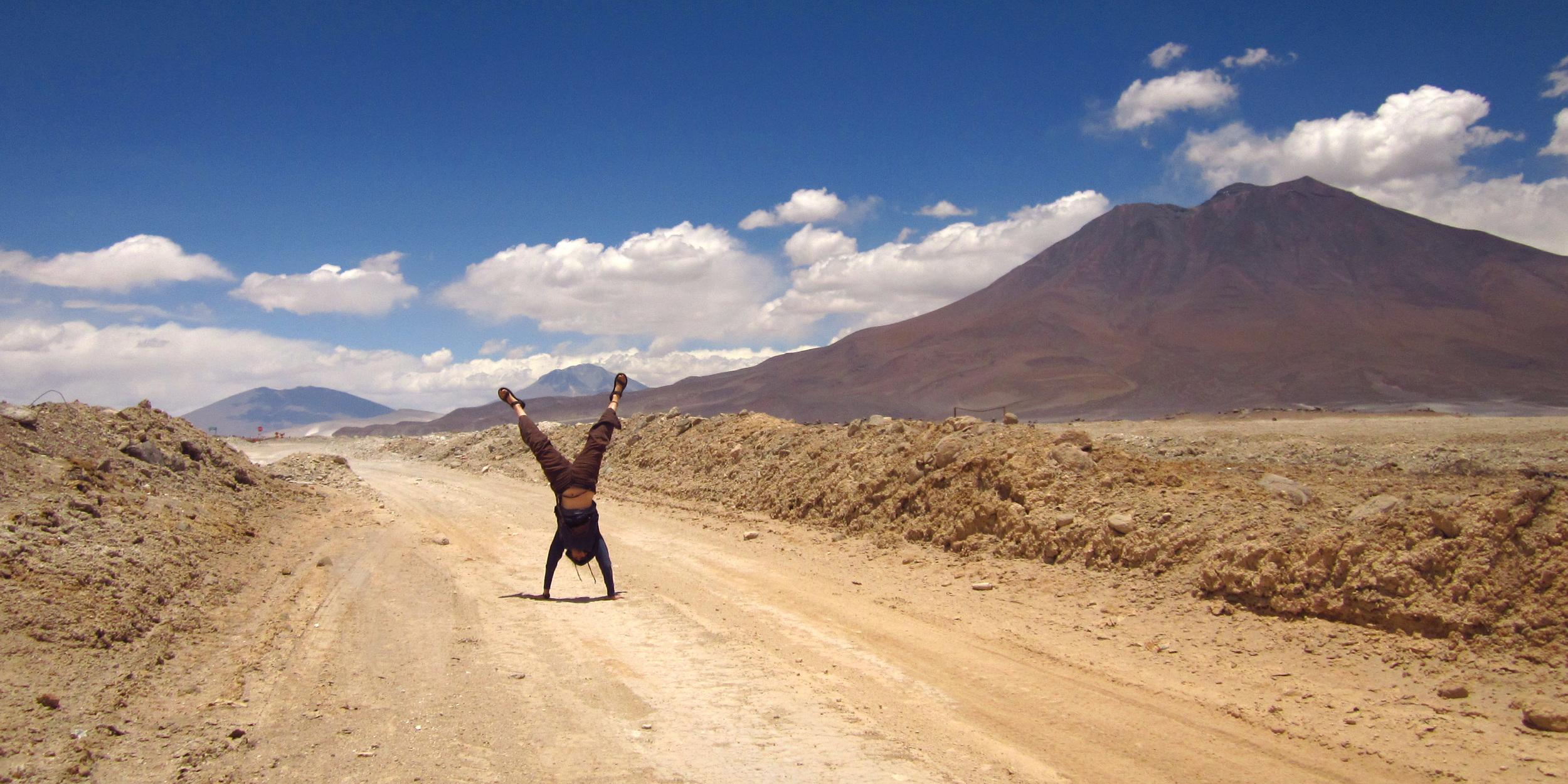 Bolivia 2012, Handstand on 4600m