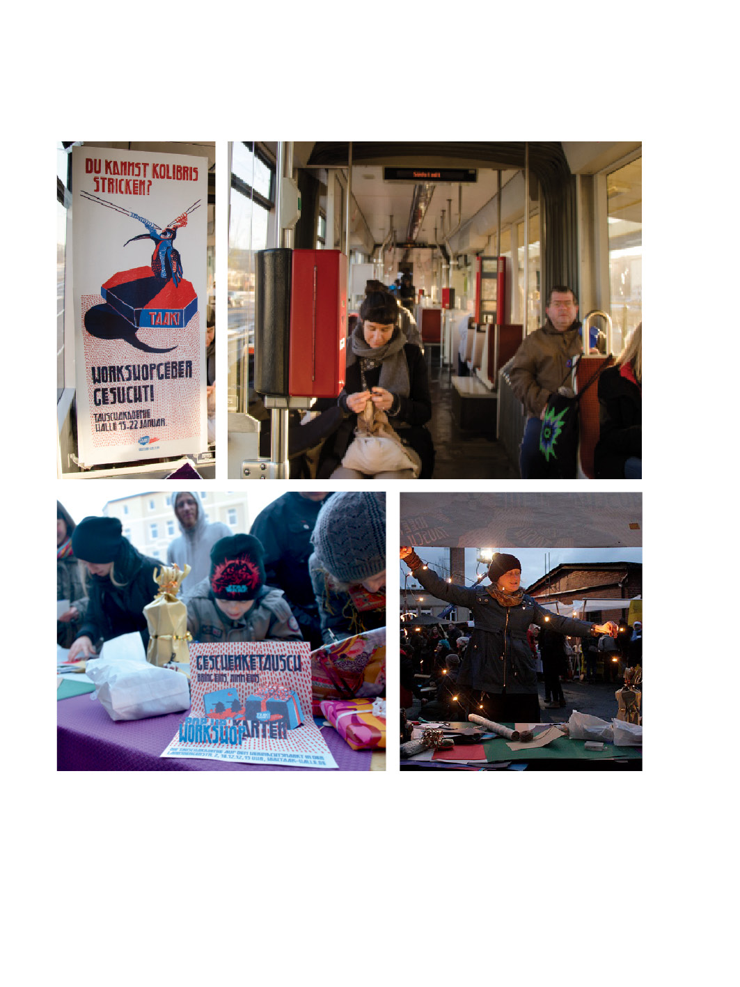 PROMOTING WORKSHOPS in a cable car and at The Christmas Market