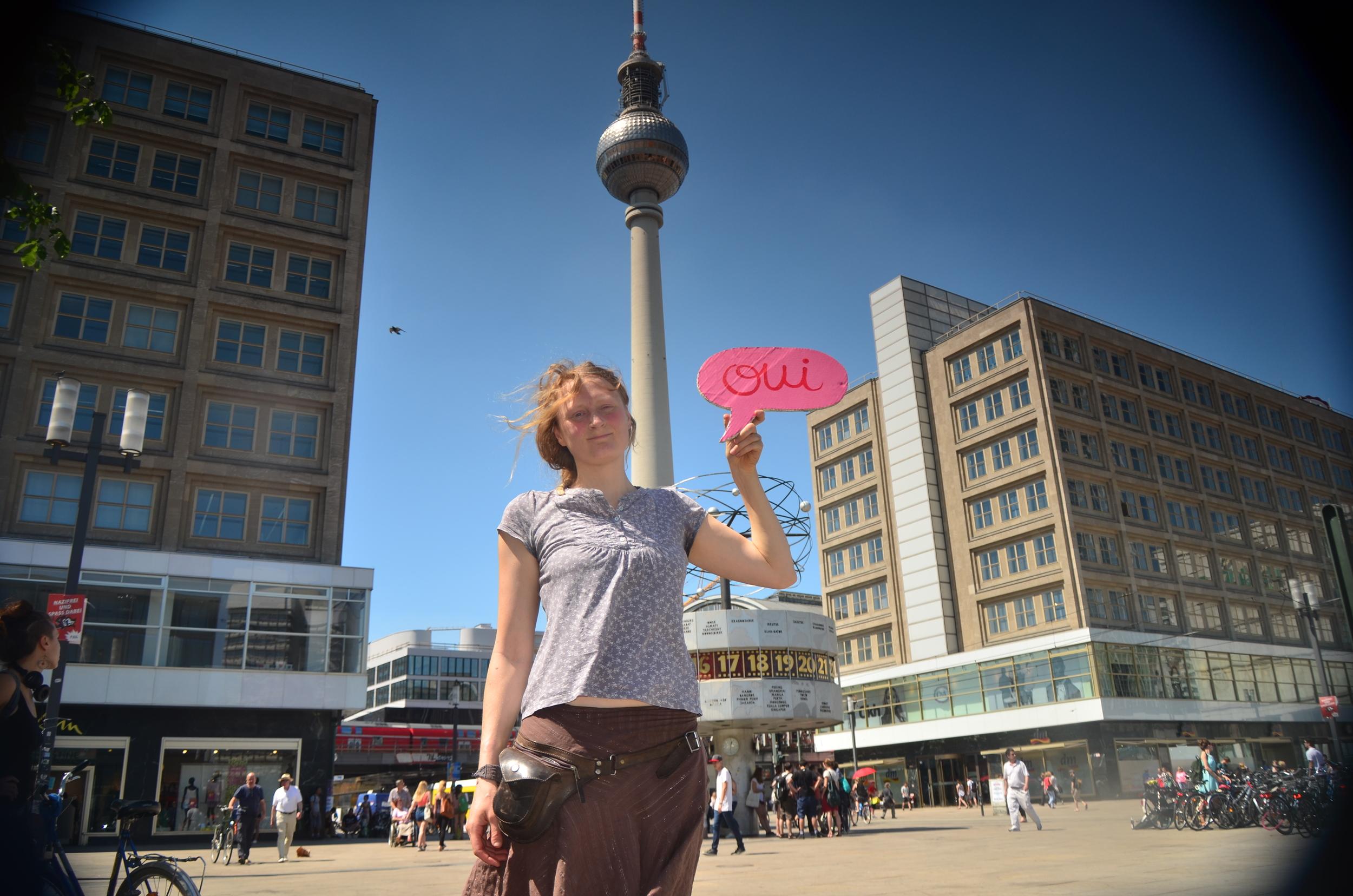 …passing Berlin, greetings from Alexanderplatz