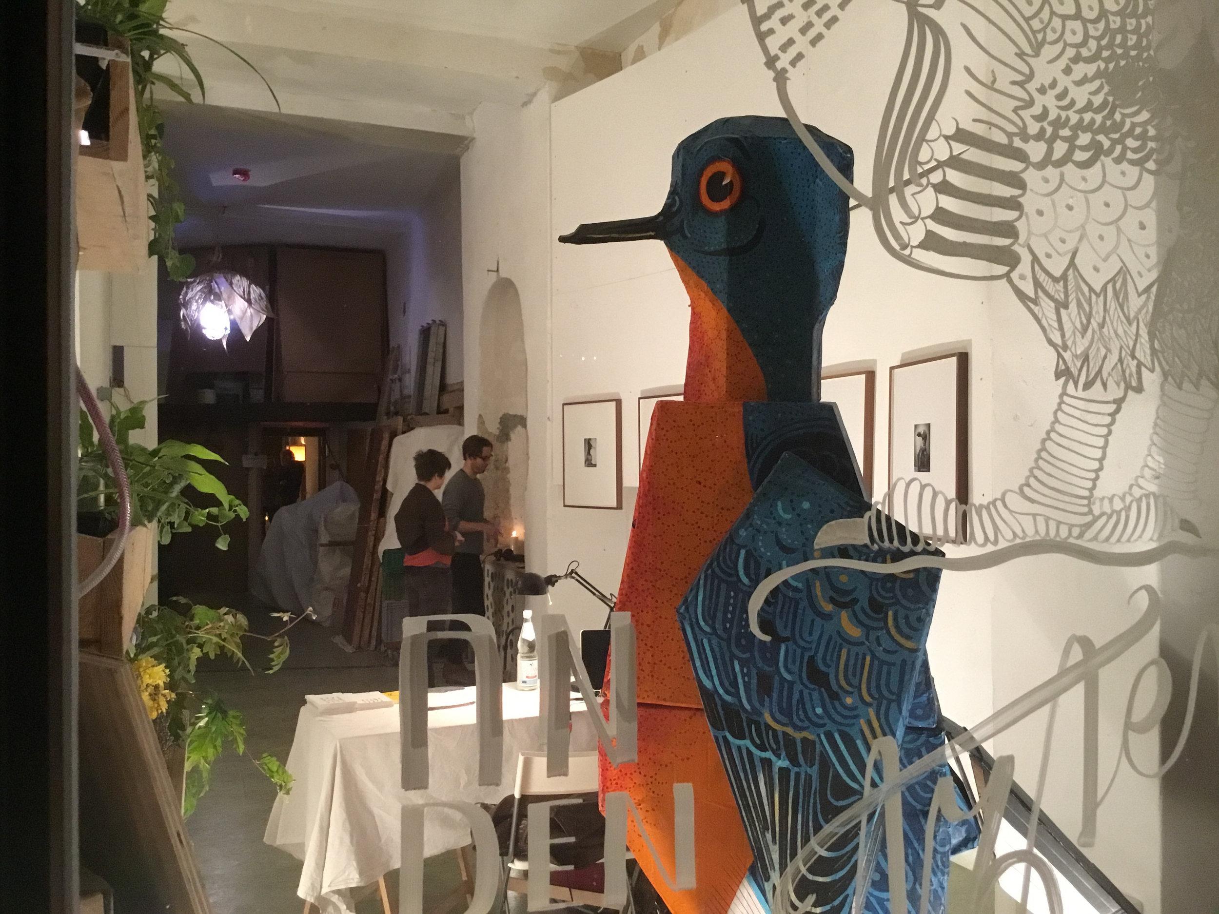 Sculpture Martha Bird by illustrator ATAK