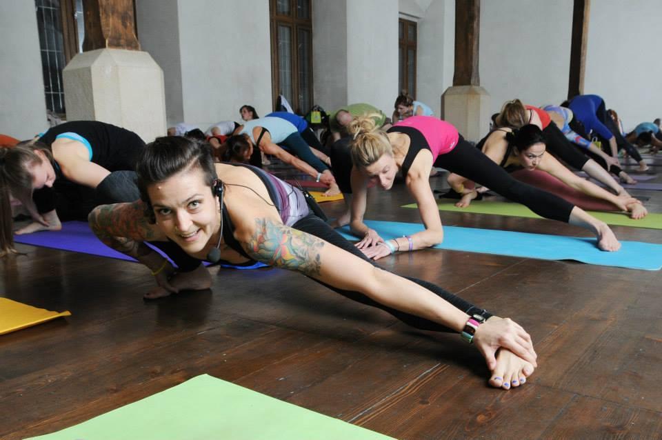 Live Music Yoga Class, Prague Spirit Festival 2013