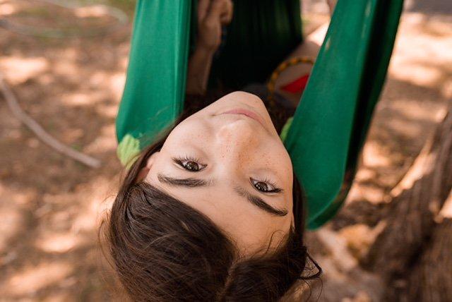 Starry Eyes in her homemade hammock.