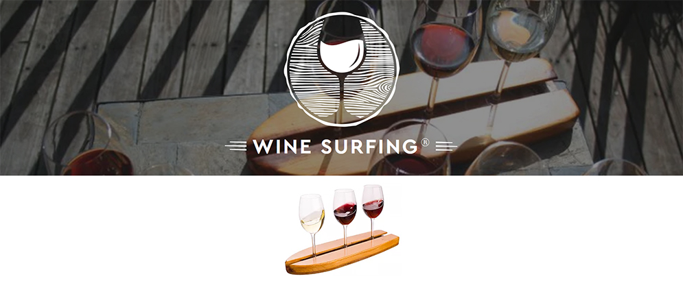 You may choose any three wines from our daily list of by the glass options, and we'll present them to you on a surfboard for you to enjoy
