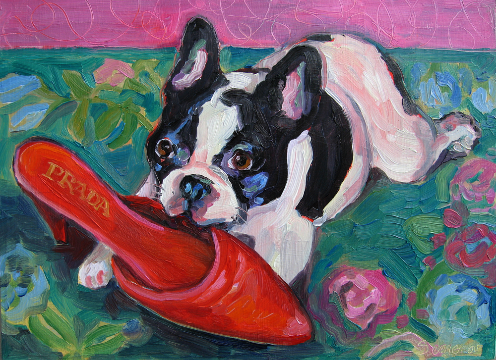 French Bulldog & Prada Shoe