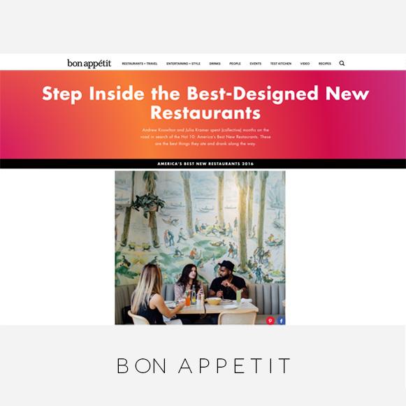 Wendy Haworth Design / Bon Appetit Magazine / Best-Designed New Restaurants