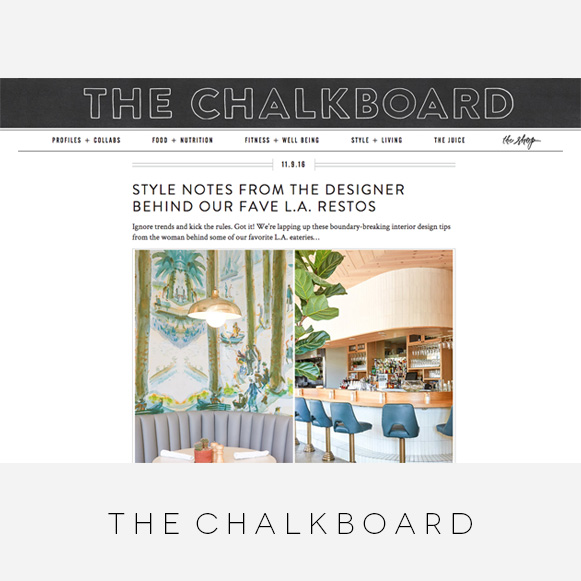 Wendy Haworth Design - The Chalkboard - Style Notes Feature